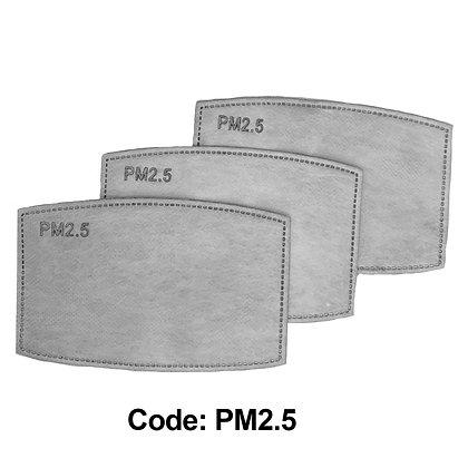 PMS2.5 - Filtres pour masque facial avec pochette / emballage de 3
