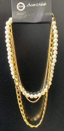Collier 3rangs avec perles