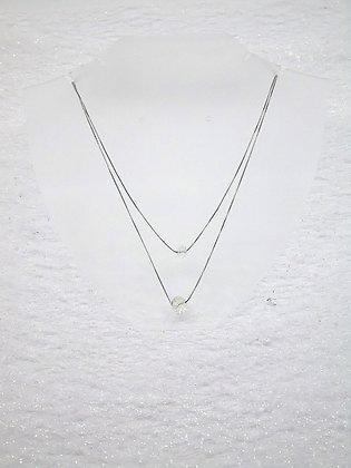 Collier 2 cristaux avec éléments Swarovski