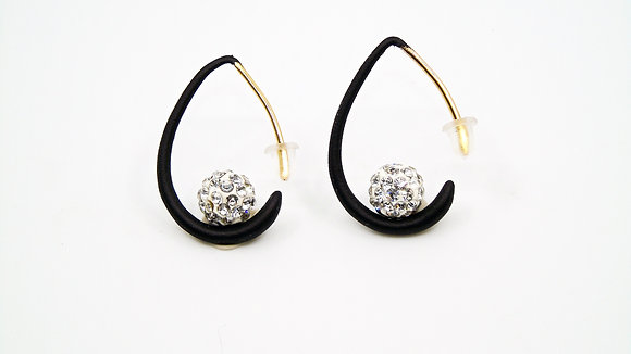 Boucles d'oreilles perle argentée