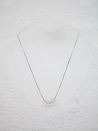 Collier 3 cristaux avec éléments Swarovski