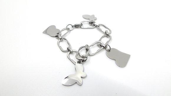 Bracelet Cœurs et Papillons