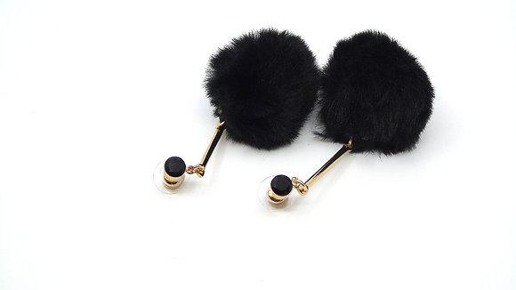 Boucles d'oreilles  pom-pom