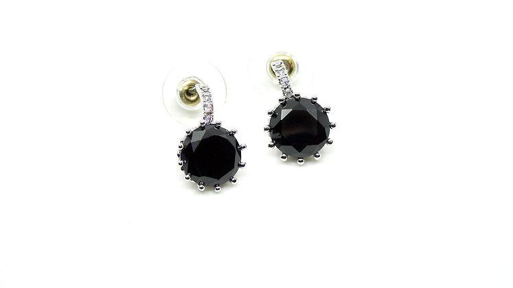 Boucles d'oreilles cristal noir
