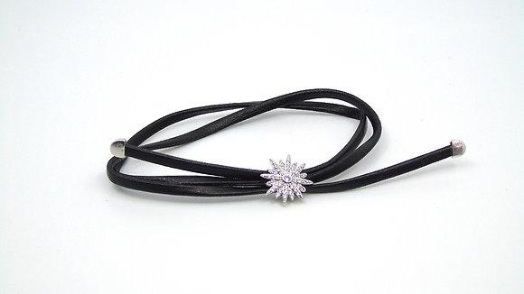 Bracelet cuir avec flocon