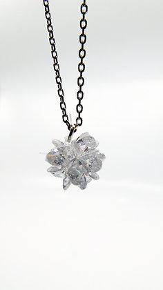 Chaîne fleur en cristaux