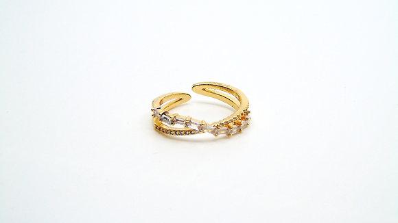 Bague diamantée or