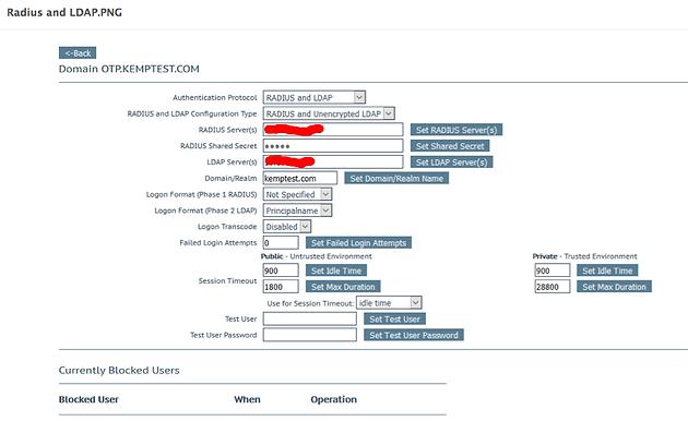 Dual Authentication (Radius & LDAP) with Safenet