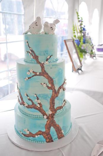 Van Gogh Almond Blossom Cake