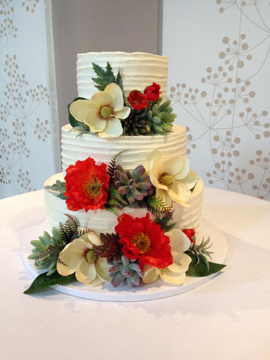 Homestyle with Succulents, Poppies, and Magnolias