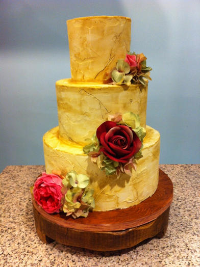 Rustic Texture with Roses