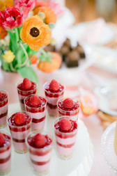 Dessert Buffet - Raspberry Cheesecake Parfaits
