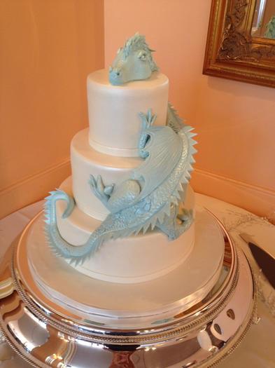 3D Dragon Wedding Cake