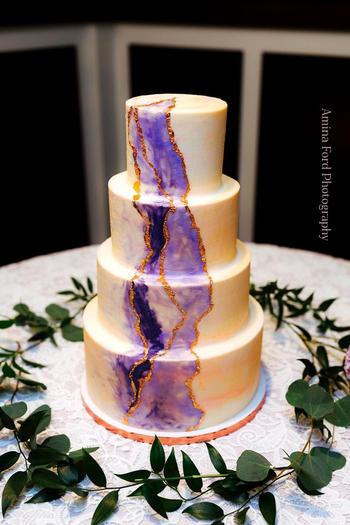 Watercolor Invitation Cake