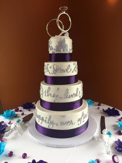 Happily Ever After with Purple Ribbon