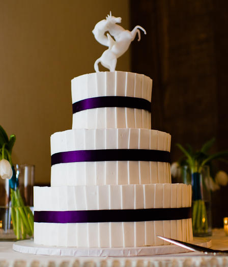 Pleated with Purple Ribbon