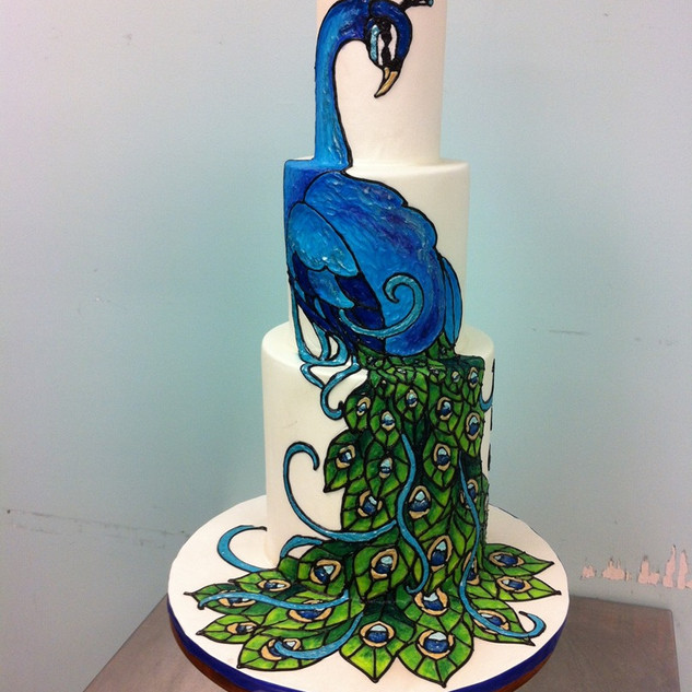 Majestic Peacock Cake
