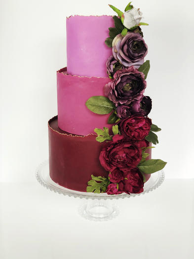 Purple Ombre with Ombre Flowers