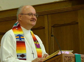 Pastor Russell Atkinson delivering a sermon