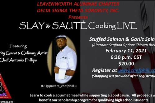 Slay and Sauté with Leavenworth Alumnae Chapter DST