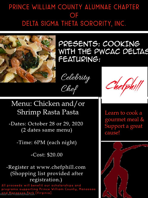 October 29th @6PM: Cooking With PWCAC Deltas and Chef Phill LIVE