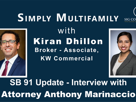 Simply Multifamily: SB 91 Update for California Apartment Property Owners