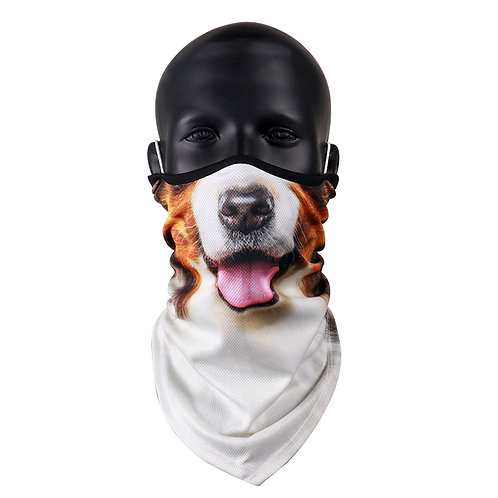 Dog nose face covering scarf