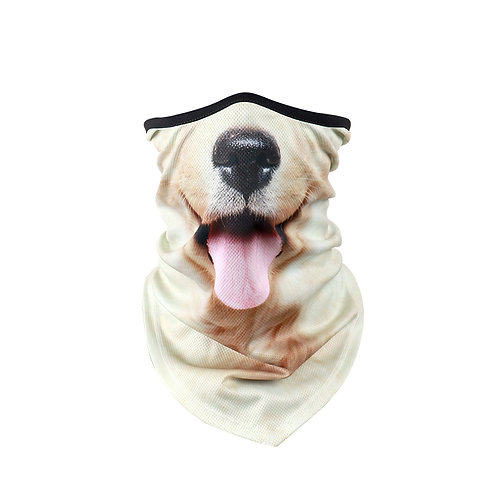 Golden retriever face covering scarf