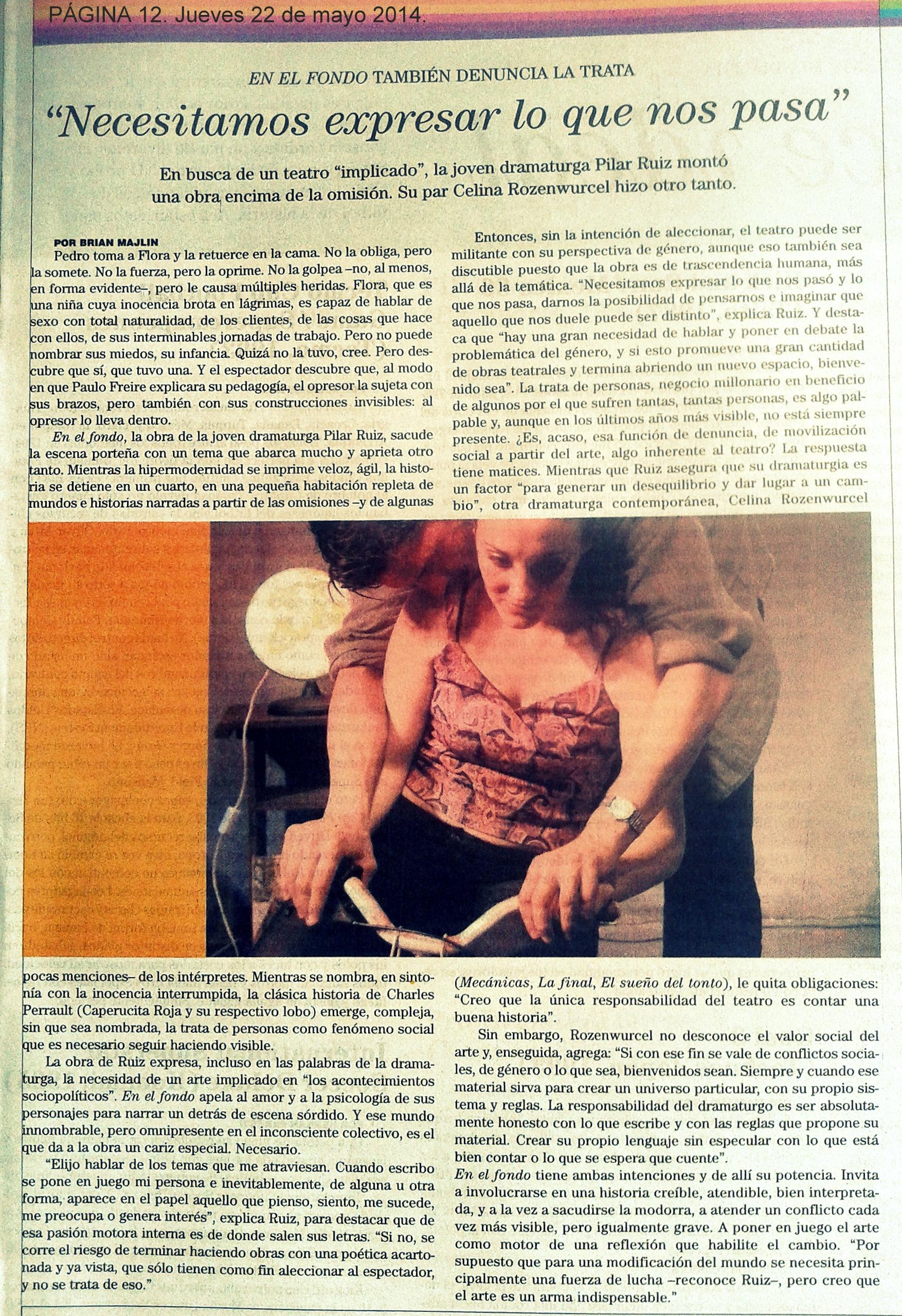 PÁGINA 12. Suplemento NO