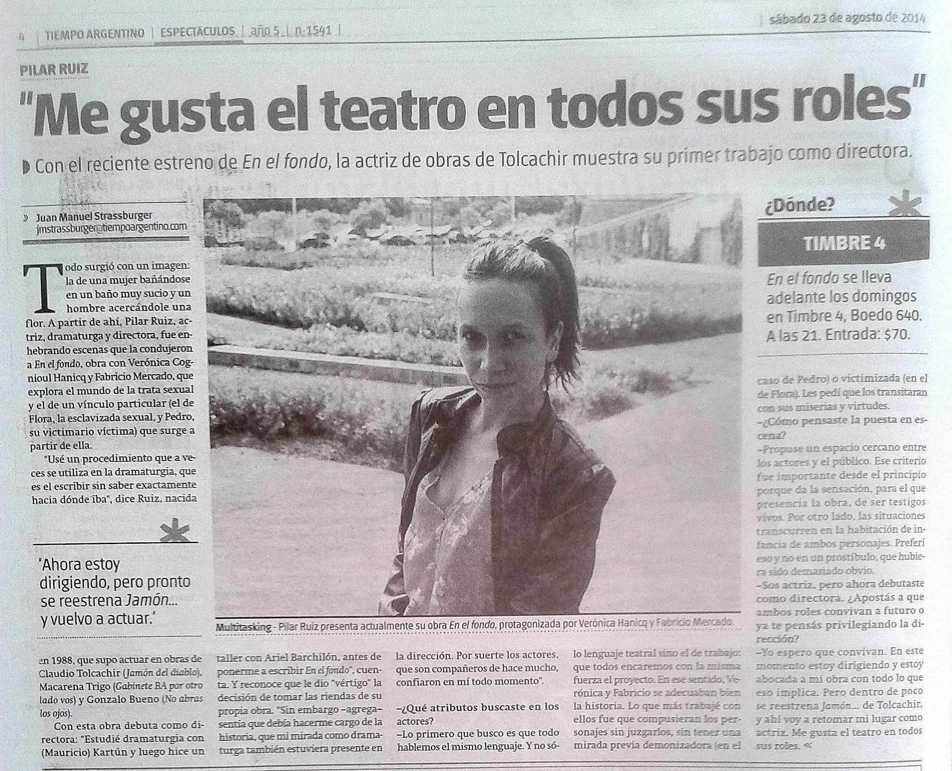 Tiempo Argentino. Espectáculos