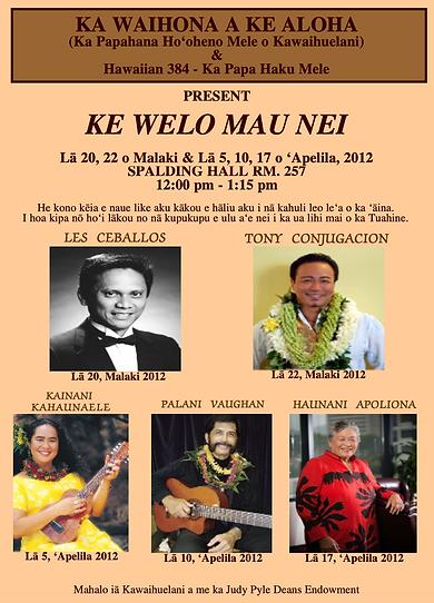 Ke Welo Mau Nei Spring 2012