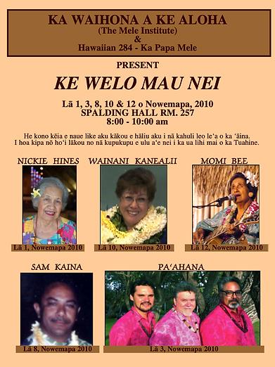 Ke Welo Mau Nei Fall 2010