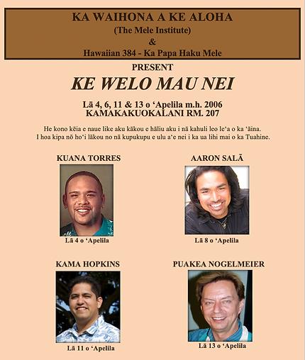 Ke Welo Mau Nei 2006