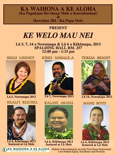 Ke Welo Mau Nei Fall 2013
