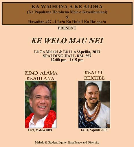 Ke Welo Mau Nei Spring 2013