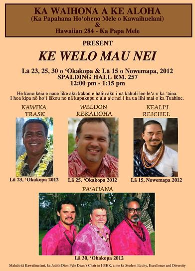 Ke Welo Mau Nei Fall 2012