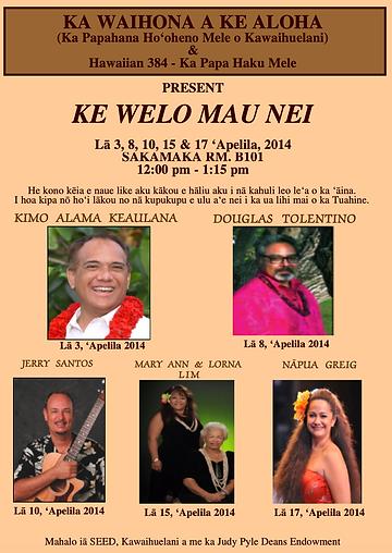 Ke Welo Mau Nei Spring 2014