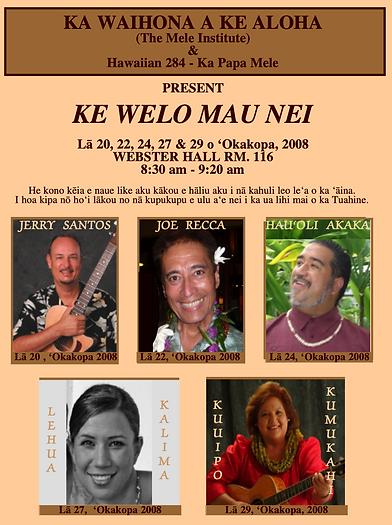 Ke Welo Mau Nei Fall 2008