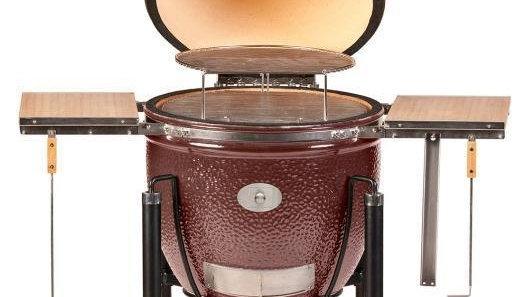 Керамический гриль Monolith Le Chef XL красный на колёсиках 1