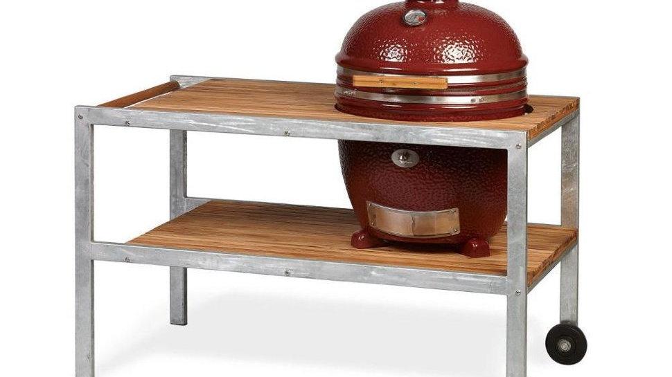 Керамический гриль Monolith Classic L красный со столом