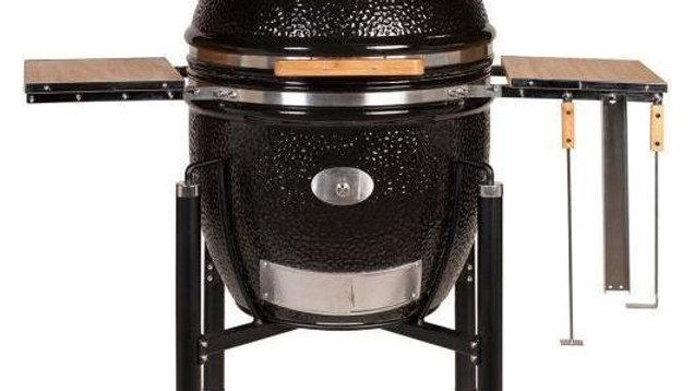 Керамический гриль Monolith Le Chef XL чёрный на колёсиках
