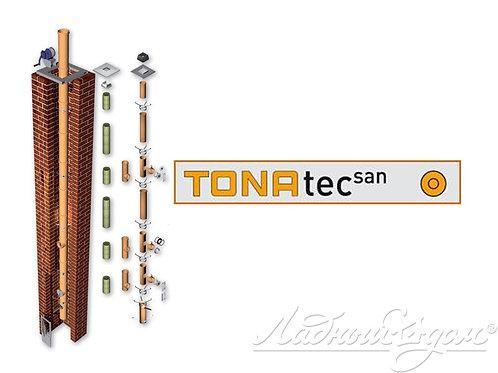 Комплект дымохода TONA tec SAN, диаметр 120 мм - 4 п.м.