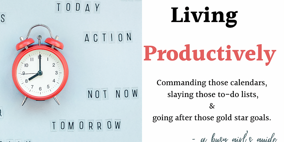 Living Productively Workshop