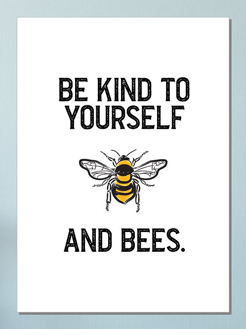 """And Bees"" Art Print"