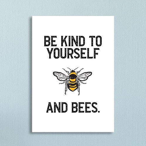 """""""And Bees"""" Canvas"""