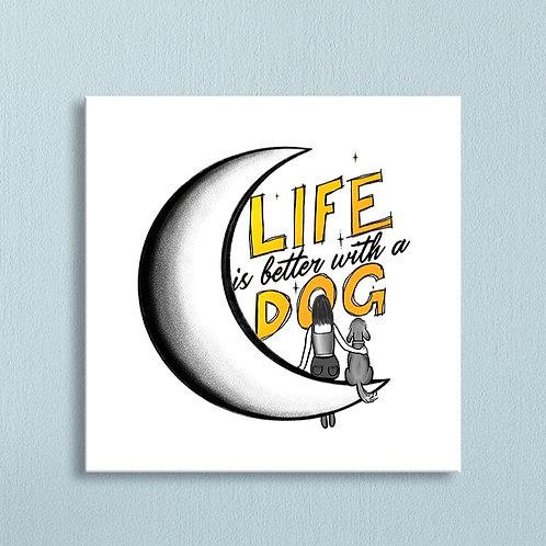 """A Dog"" Canvas"