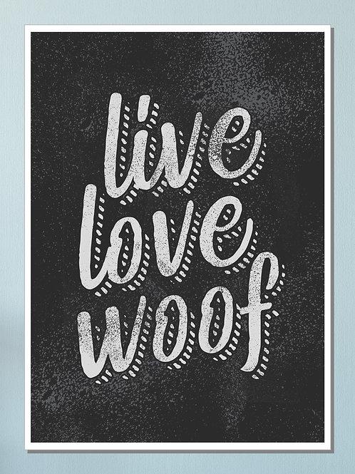 """""""Woof"""" Art Print"""