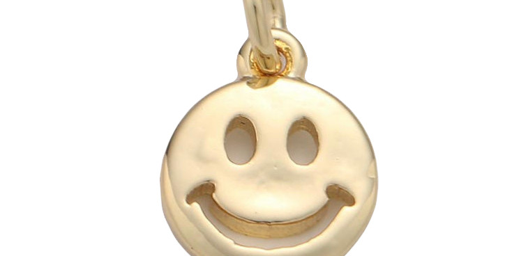 GOLD SMILEY FACE CHARM