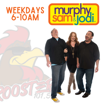 Murphy, Sam & Jodi on The Rooster 101.5