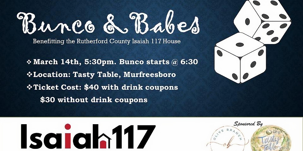 Bunco & Babes benefiting Isaiah House 117